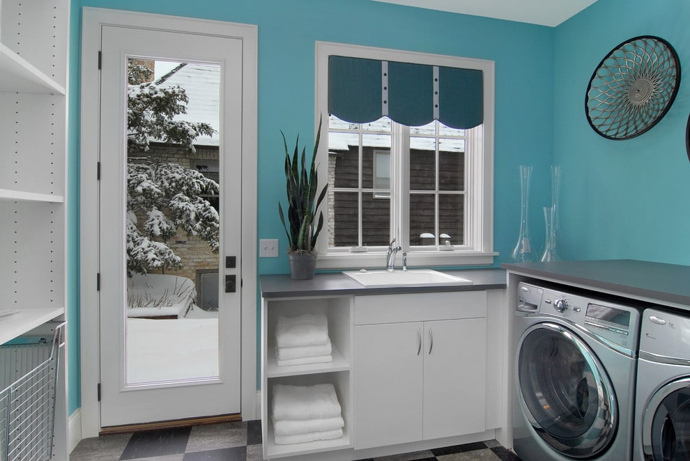 colorful-blue-laundry-room