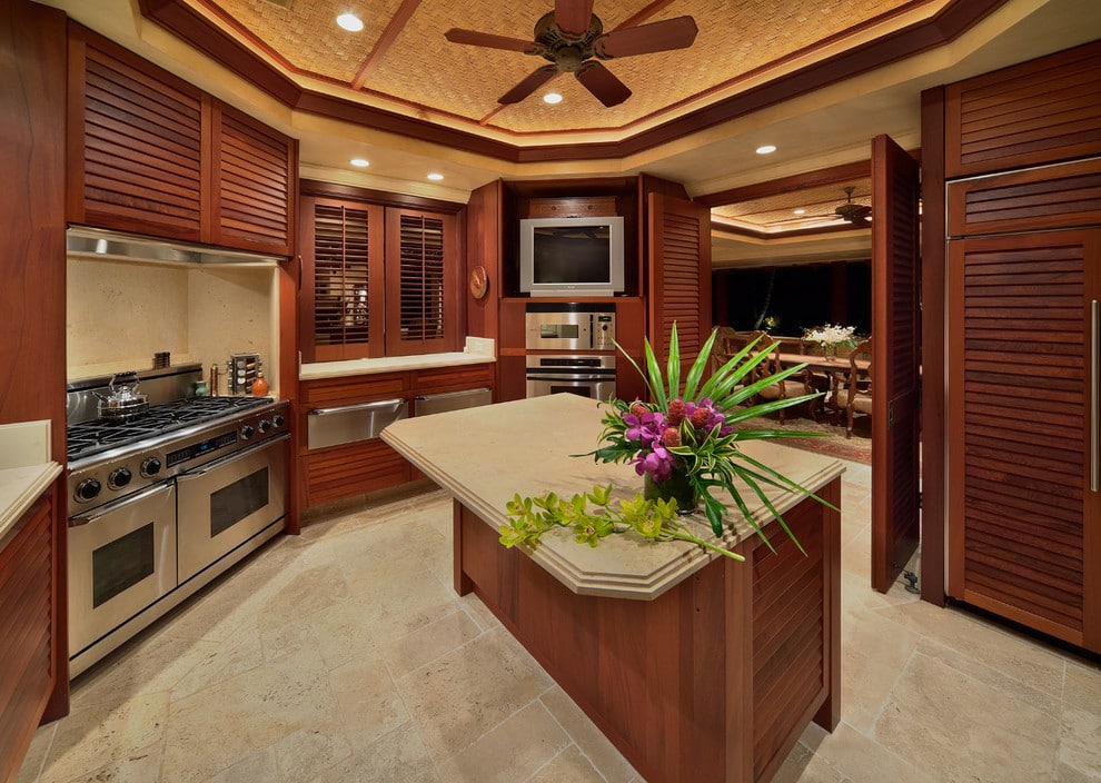 louvered kitchen cabinets