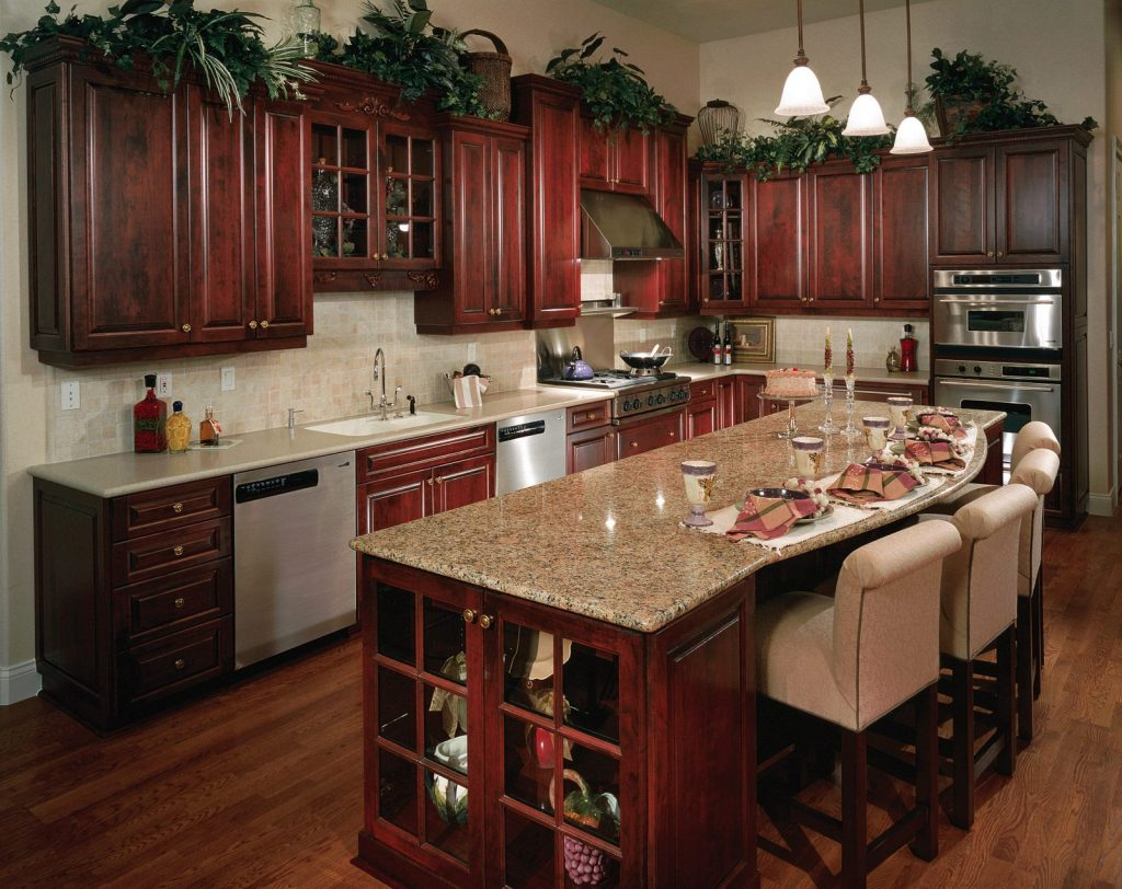 gorgeous-cherry-wood-reddish-brown-rta-kitchen-cabinets