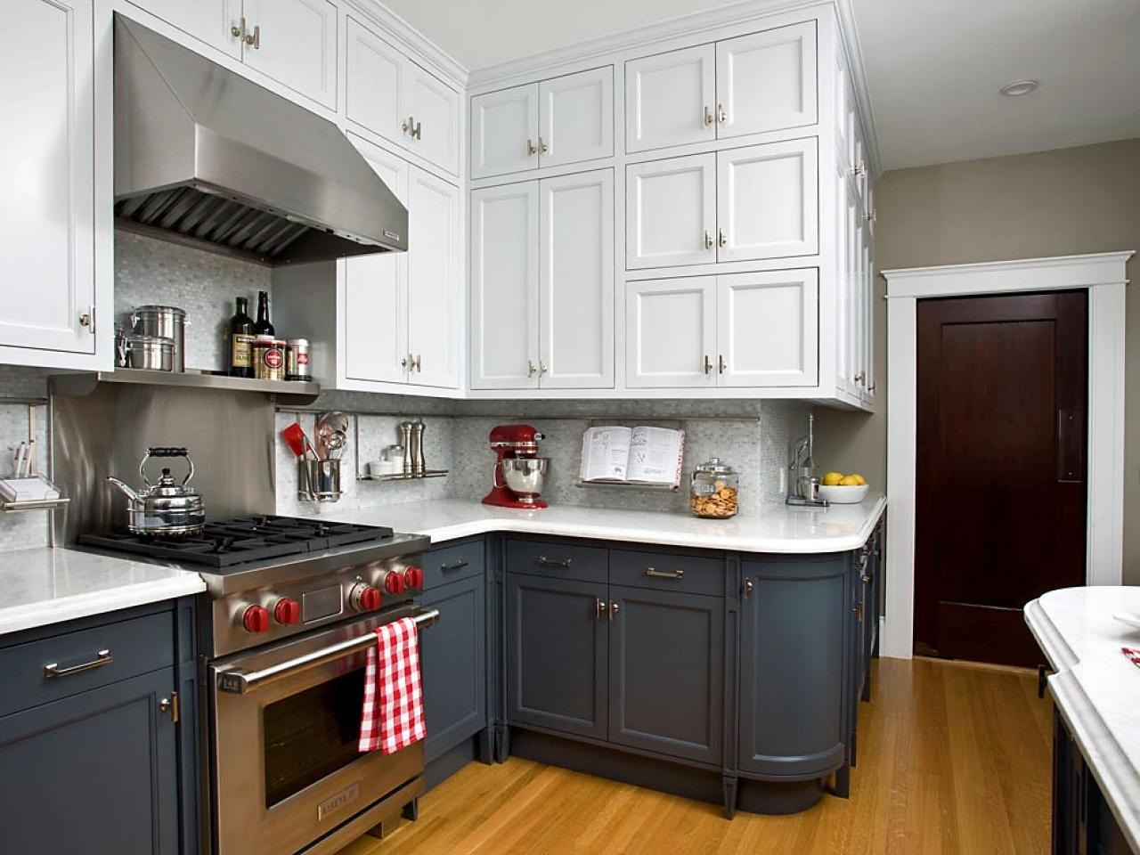 two-tone-kitchen-cabinets-black-and-white-rta-shaker-cabinets