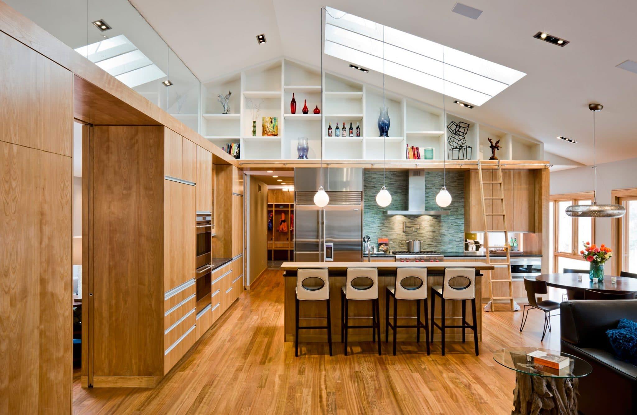 modern-kitchen-spacious-hardwood-cabinets