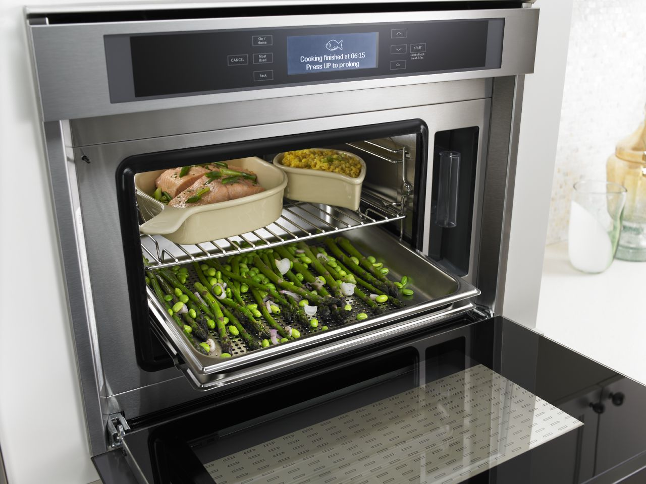 A steam-convection-oven-at-work