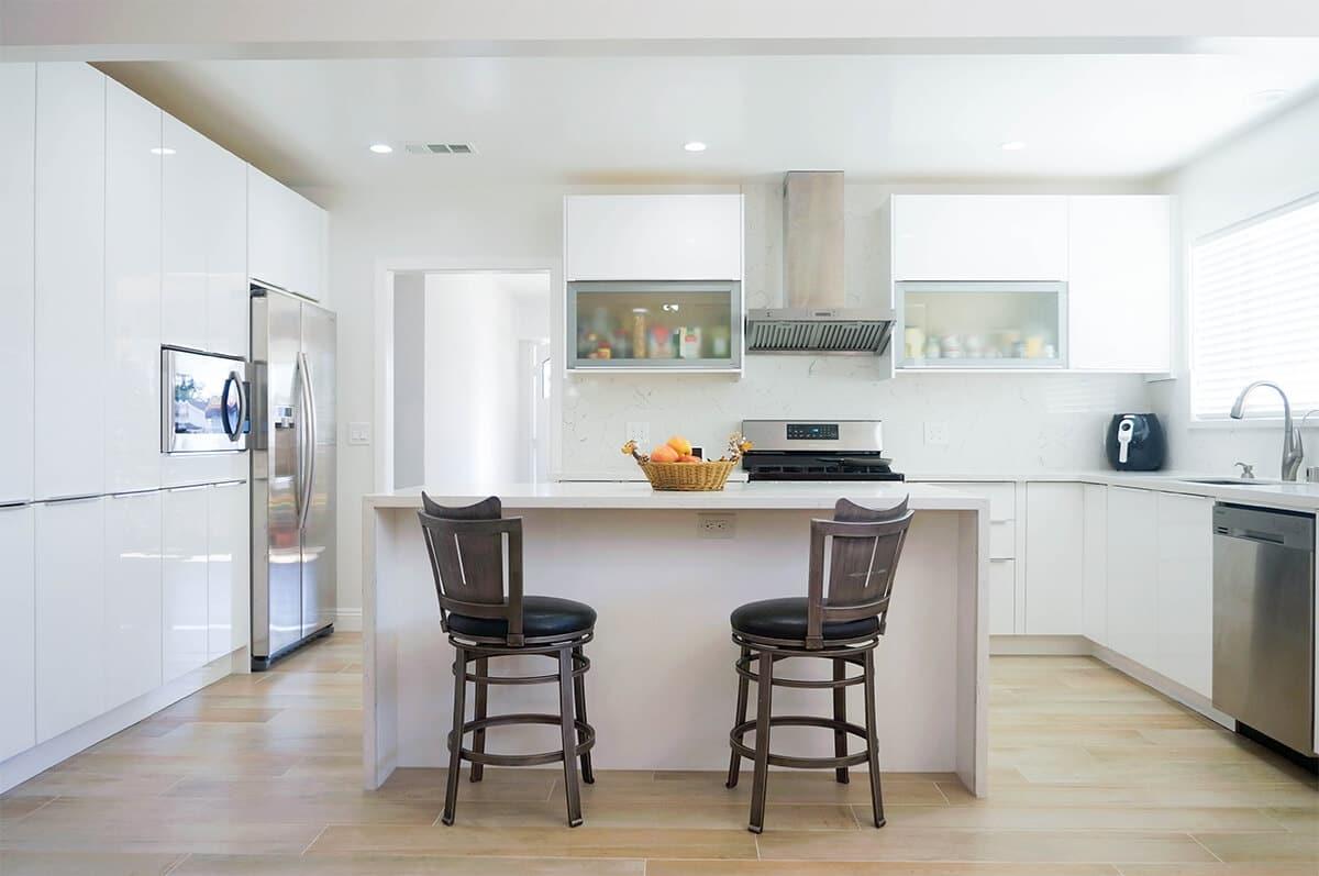 How To Design The Dream Kitchen White Gloss Euro Cabinets