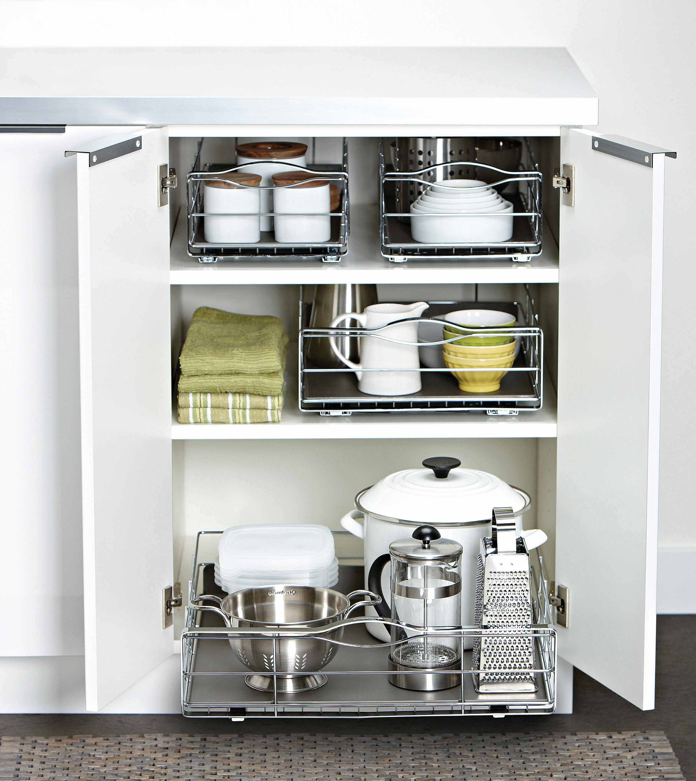 Base Cabinets with Organizers