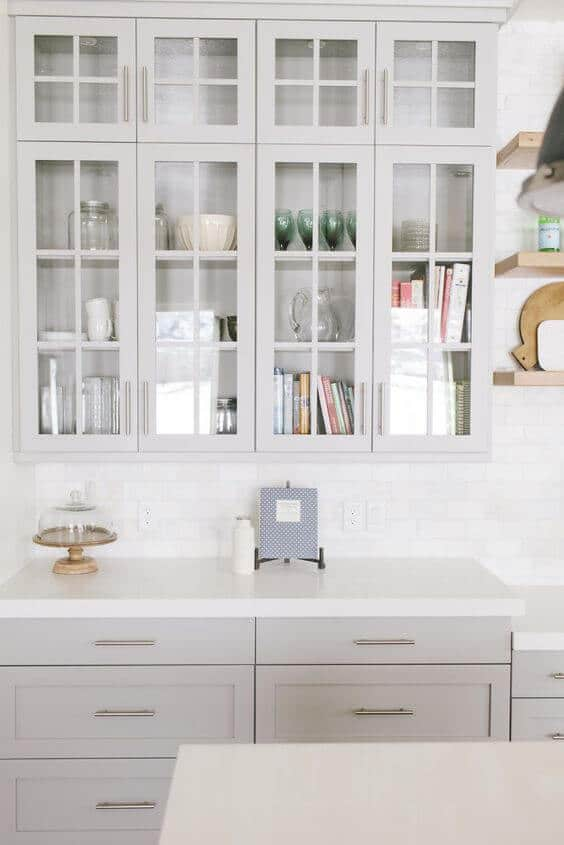 Glass Upper Kitchen Cabinets Cool Display