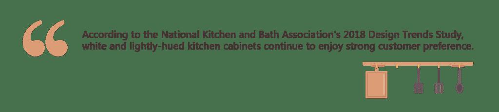 white kitchen cabinet idea NKBA quote
