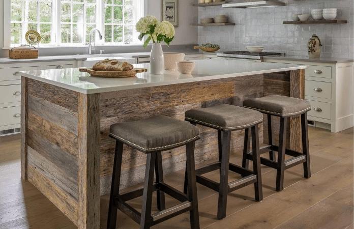 Farmhouse Kitchen With Reclaimed Barn Board