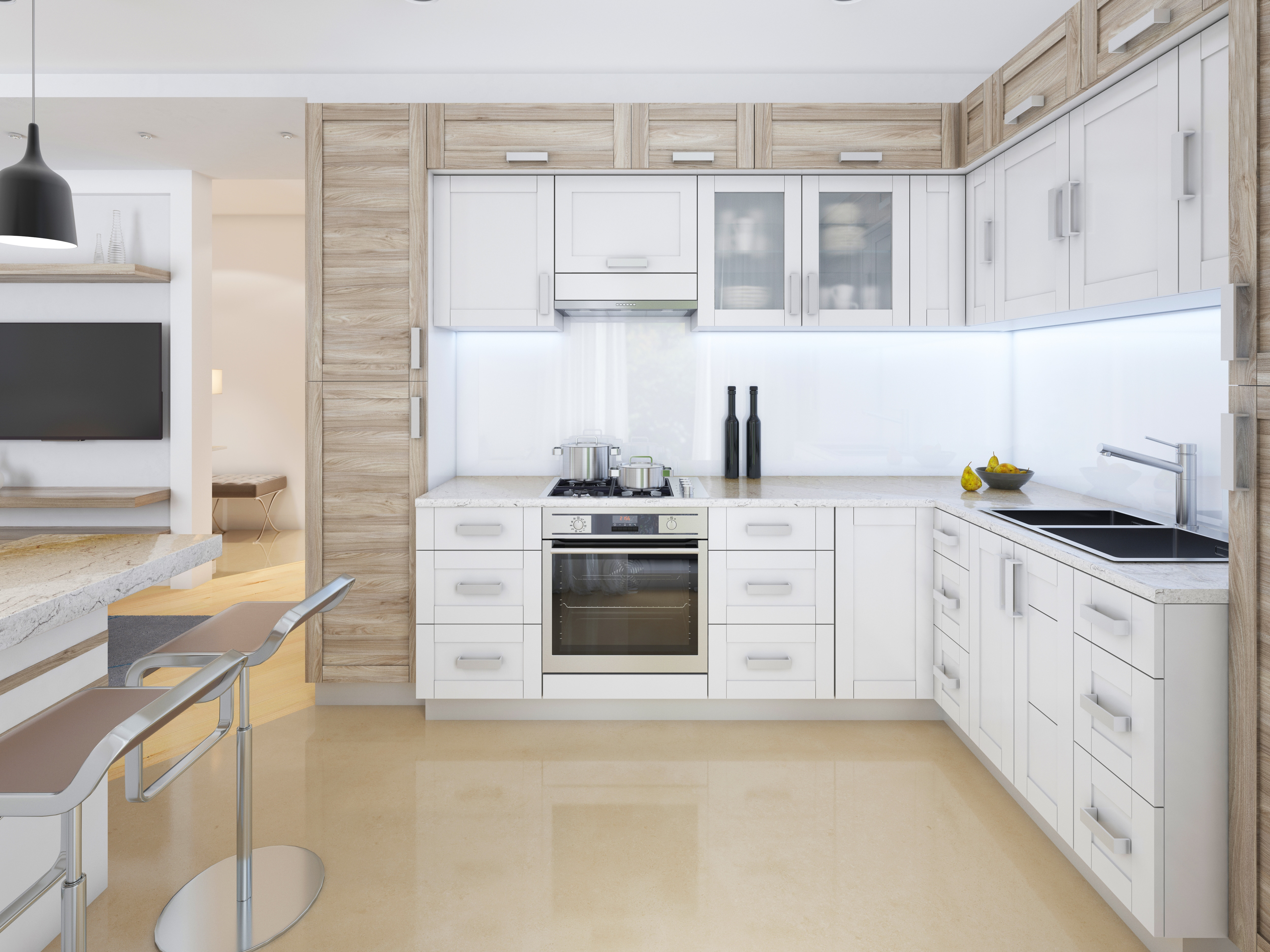 How to Go Modern with White Shaker Cabinets   Best Online Cabinets