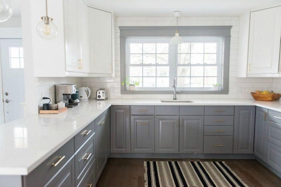 Backsplash And Countertop Ideas For Grey Shaker Cabinets Best Online Cabinets