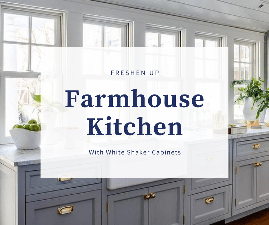 Freshen Up A Farmhouse Kitchen With Shaker Cabinets Best Online Cabinets