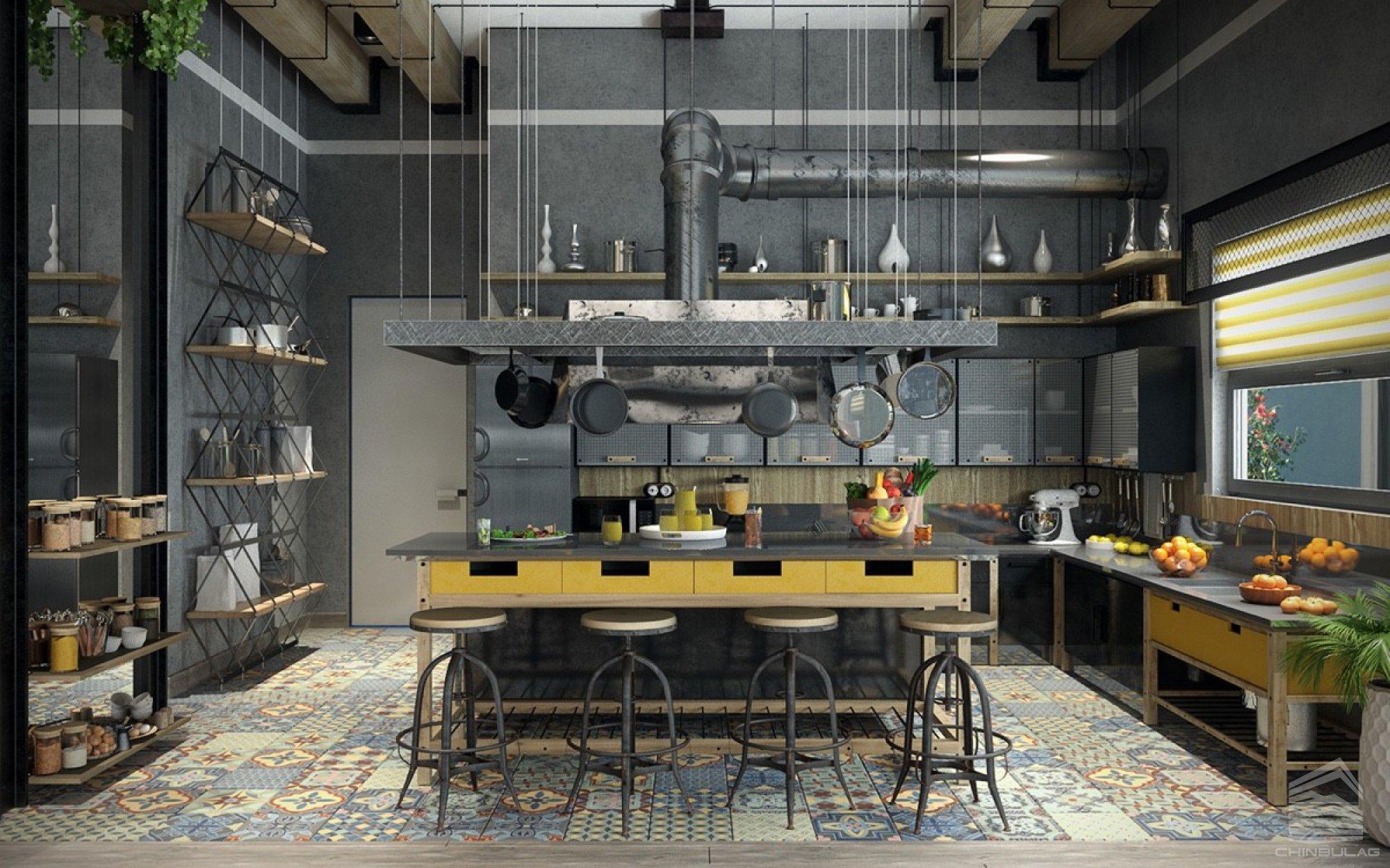 Best Industrial Kitchen Design Ideas for 9   Best Online Cabinets