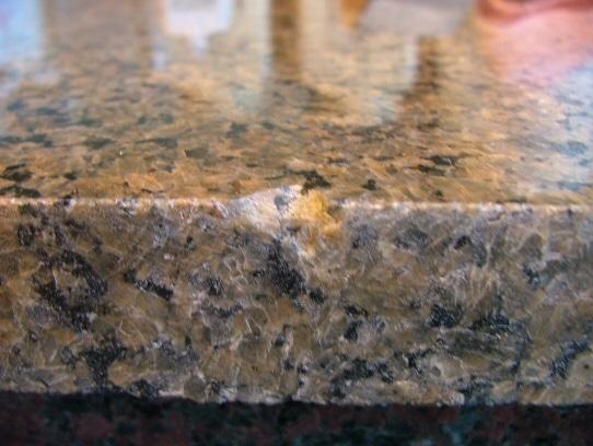 kitchen countertop damaged