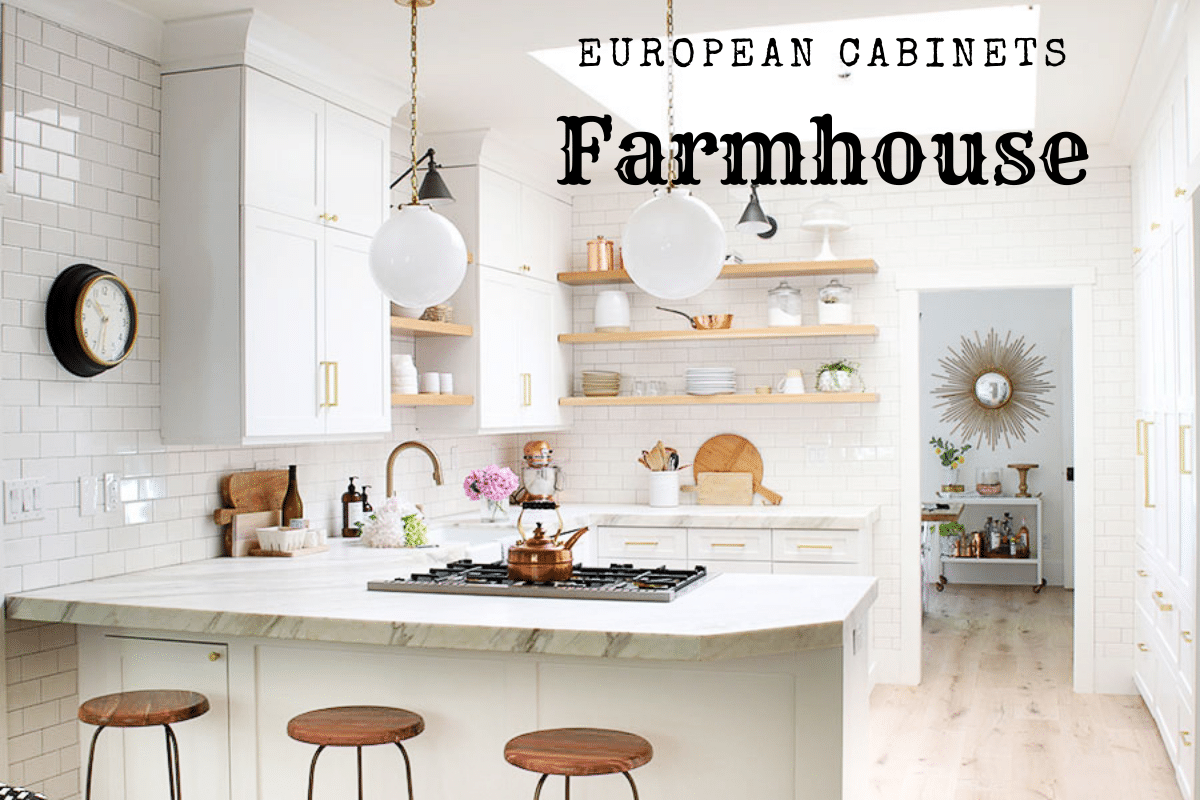 Farmhouse Style With European Kitchen Cabinets Yes You Can Best Online Cabinets