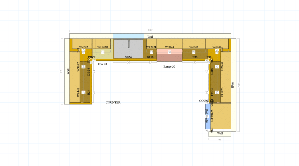 Simpsons kitchen layout